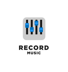 record music logo design inspiration vector image