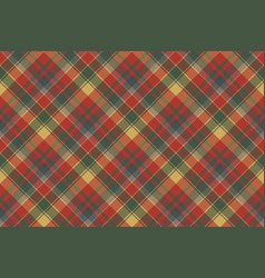 red green check plaid texture textile seamless vector image