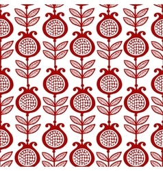 Seamless with pomegranates vector