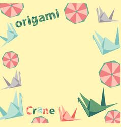 Set of origami figures vector