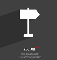 Signpost icon symbol Flat modern web design with vector