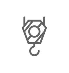 simple crane hook icon symbol and sign vector image