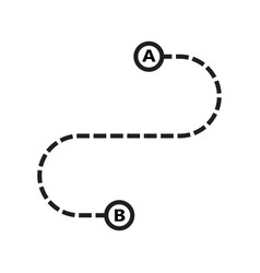 simple route route location icon isolated on vector image
