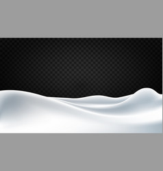 snowy background with huge snowdrifts isolated on vector image