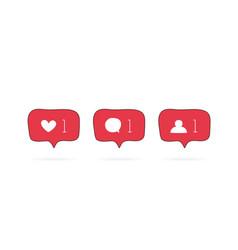 social media like comment follower vector image