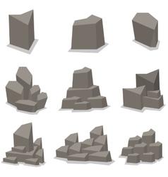 Stone set vector