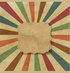 sunburst old background with label vector image