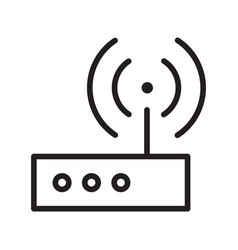 Thin line wifi transmitter icon vector