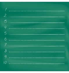 To do list on blackboard vector image
