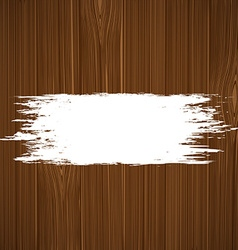 White paint on a wooden surface vector image