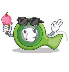 With ice cream adhesive tape character cartoon vector