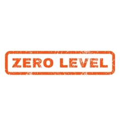 Zero Level Rubber Stamp vector