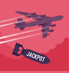 bomber and jackpot bombing vector image