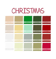 Christmas Classic Color Tone with Code vector image vector image