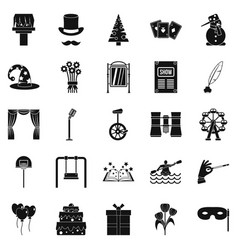 Magic performance icons set simple style vector