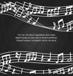 musical blackboard background design - chalkboard vector image vector image
