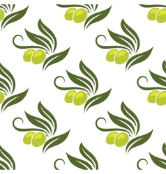 Olives seamless pattern vector
