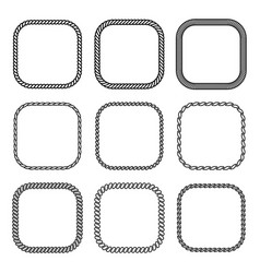 rope set of square frames collection vector image