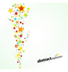 starry explosion background vector image