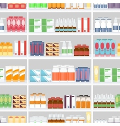 Various Pills and Drugs on Shelves vector image vector image