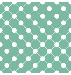 White polka dot chess board grid green vector