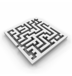 A maze labyrinth vector