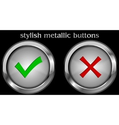 check mark buttons vector image
