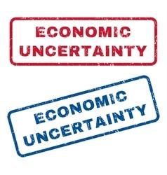 Economic uncertainty rubber stamps vector