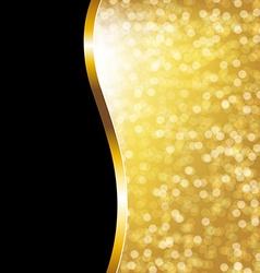 Golden Bokeh Holiday Poster vector image vector image