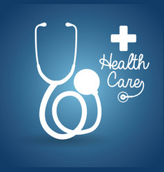health care stethoscope cross poster vector image vector image