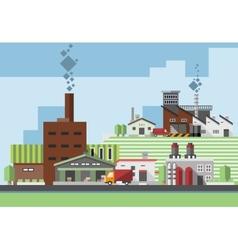 Industrial buildings flat vector image