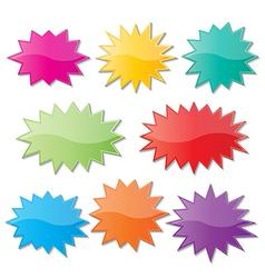 Starburst speech bubbles vector