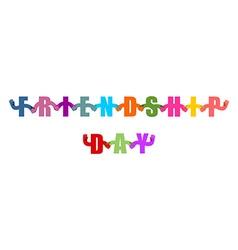 Friendship Day logo International holiday sign vector image