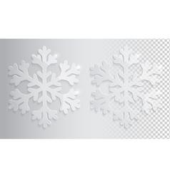 Glass transparent snowflake Christmas vector image vector image