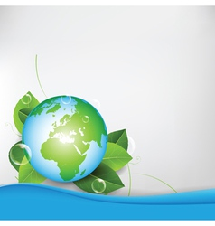 green eco globe background vector image vector image