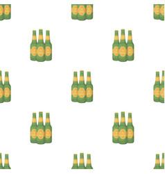 Green glass beer bottles alcoholic drink pub pub vector