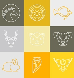 linear logos and signs vector image