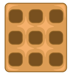a square waffle to be enjoyed with whipped cream vector image