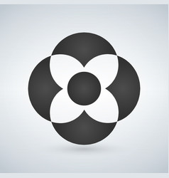 abstract flower shape concept can be used for ui vector image
