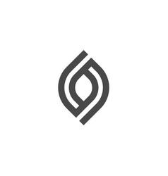 Abstract logo geometric shape futuristic leaf bio vector