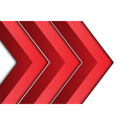 abstract red arrow 3d on white direction vector image