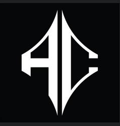 Ac logo monogram with diamond shape design vector