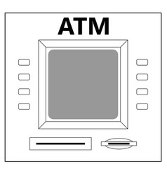 atm for cash withdrawal vector image