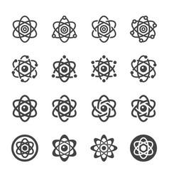 atom icon set vector image