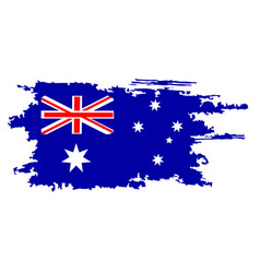 Australian flag painted by brush hand paints art vector