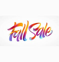 autumn season hand lettering fall sale modern vector image