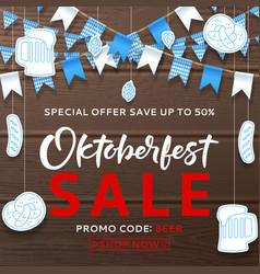beautiful background for oktoberfest sale vector image