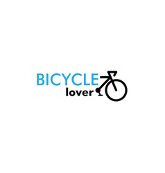 bicycle lover graphic design template isolated vector image