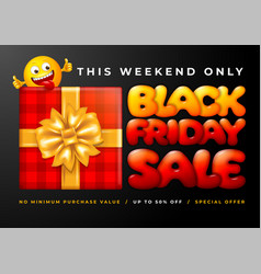 black friday sale advertising banner vector image