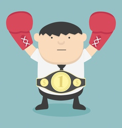 Business Champion fat vector image